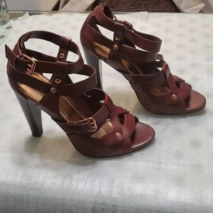 Vince camuto leather heel sandals